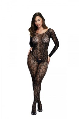 BACI BODYSTOCKING BLACK PATTERNED 50008-12