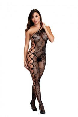 BACI BODYSTOCKING BLACK PATTERNED 50008-14