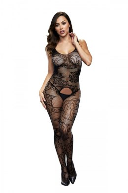 BACI BODYSTOCKING BLACK PATTERNED 50008-17