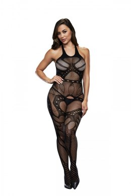BACI BODYSTOCKING BLACK PATTERNED 50008-18