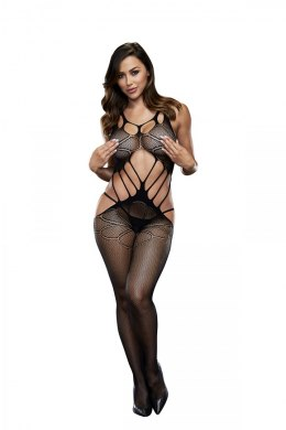BACI BODYSTOCKING BLACK PATTERNED 50008-19